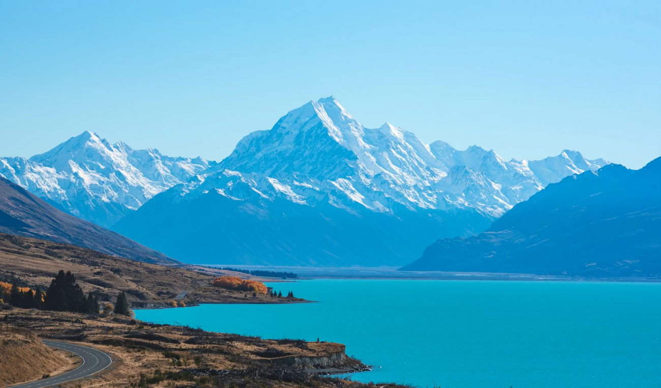 Lake pukaki in Neuseeland