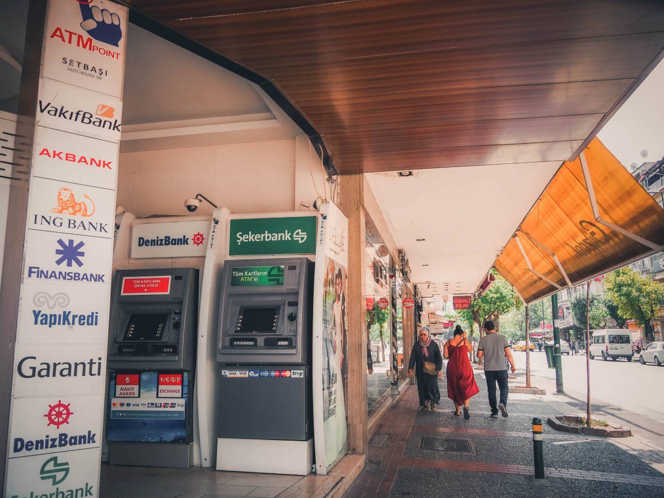 Geldautomaten (ATM) in der Türkei